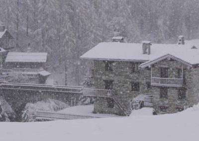 L'hiver arrive au Chalet Bazel